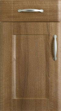 PVC Door - Brisbane/Medium Walnut