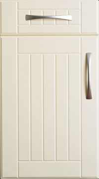 PVC Door - Shutter and Groove/Plain Cream