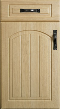 PVC Door - Saxon Arched/Montana Oak