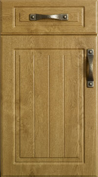 PVC Door - Saxon Square/Light Oak