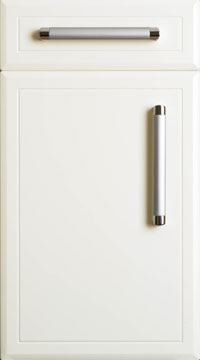 High Gloss/Modern Door - Chamfered/Vanilla