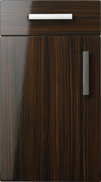 High Gloss/Modern Door - Duleek/Gloss Zebrano