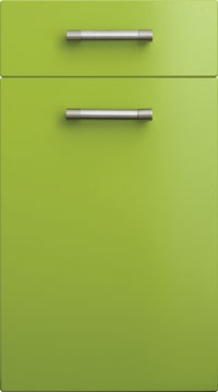 High Gloss/Modern Door - Duleek/Lime Green